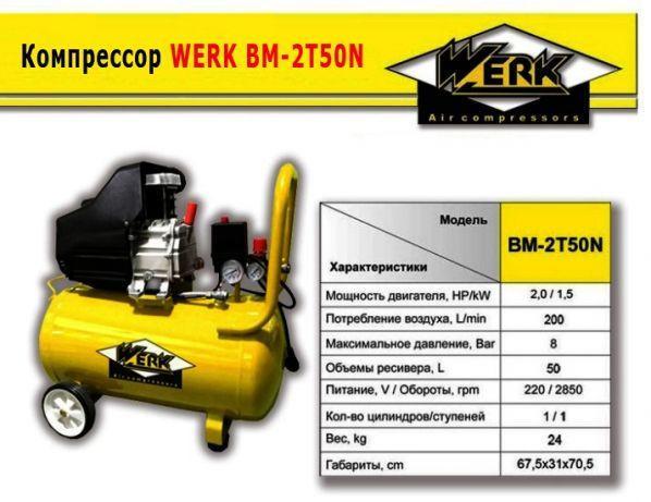 Werk BM-2T50N Компресор