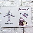 Обложка на паспорт Самолет и багаж, фото 3