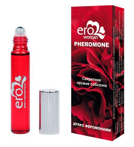 Парфуми для жінок з феромонами Erowoman №5 аромат Hugo Boss Deep Red флакон рол-він 10 мл в коробці