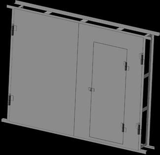 Ворота гаражные 2.5х2.5 с калиткой