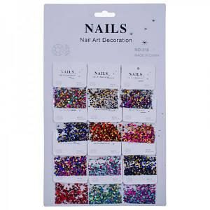 Конфетті-паєтки для декору нігтів Nails №318(6-112)