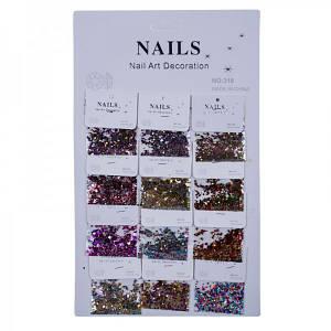 Конфетті-паєтки для декору нігтів Nails №318(6-113)