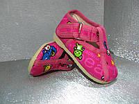 Тапочки детские розовые для девочки 20р. Украина, фото 1