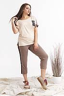 """Женский спортивный костюм  больших размеров """" Футболка и бриджи """" Dress Code, фото 1"""