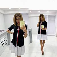 Женское платье стильное под бренд 45304-3, фото 1