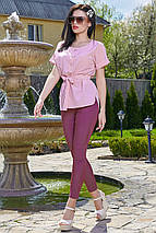 Женская блузка с коротким рукавом и поясом (3514-3510-3512 svt), фото 3