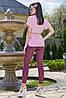 Женская блузка с коротким рукавом и поясом (3514-3510-3512 svt), фото 5
