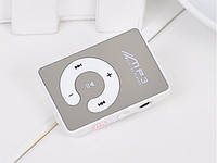 Зеркальный MP3 плеер клипса белый