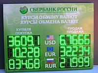 Светодиодное табло обмен валют одностороннее 800х600 мм LED-ART-800х600-1