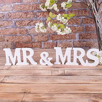 Деревянный декор слово mr&mrs