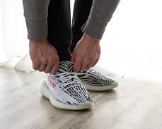 Женские кроссовки в стиле Adidas Yeezy Boost 350 V2 Zebra  (36, 37 размеры), фото 3