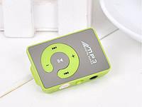 Зеркальный MP3 плеер клипса зеленый, фото 1