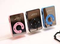 Зеркальный MP3 плеер клипса розовый