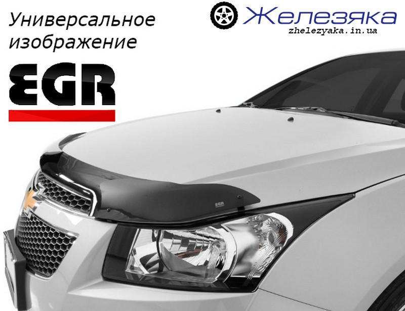 Дефлектор капоту (мухобійка) Hyundai ix35 2009 (короткий) (EGR)