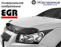 Дефлектор капоту (мухобійка) Hyundai ix35 2009 (короткий) (EGR), фото 1
