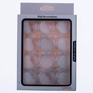 Сухий блиск для нігтів Nail Decoraions(19-7), 12шт