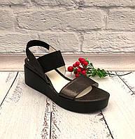 Босоножки женские кожаные черные Uk0596