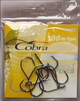 Крючки рыболовные Cobra round, №8, 10шт.