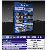 Светодиодное табло обмен валют одностороннее 1000х800 мм LED-ART-1000х800-1