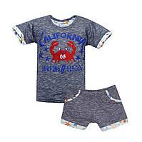 Легкий летний костюм Отличное качество 6 9 месяцев 1 2 3 годика мальчику и девочке