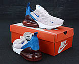 Женские кроссовки Nike Air Max 270 пудровые с синим. Живое фото, фото 5