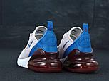 Женские кроссовки Nike Air Max 270 пудровые с синим. Живое фото, фото 3