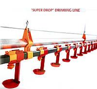 Автоматическая линия ниппельного поения для бройлеров