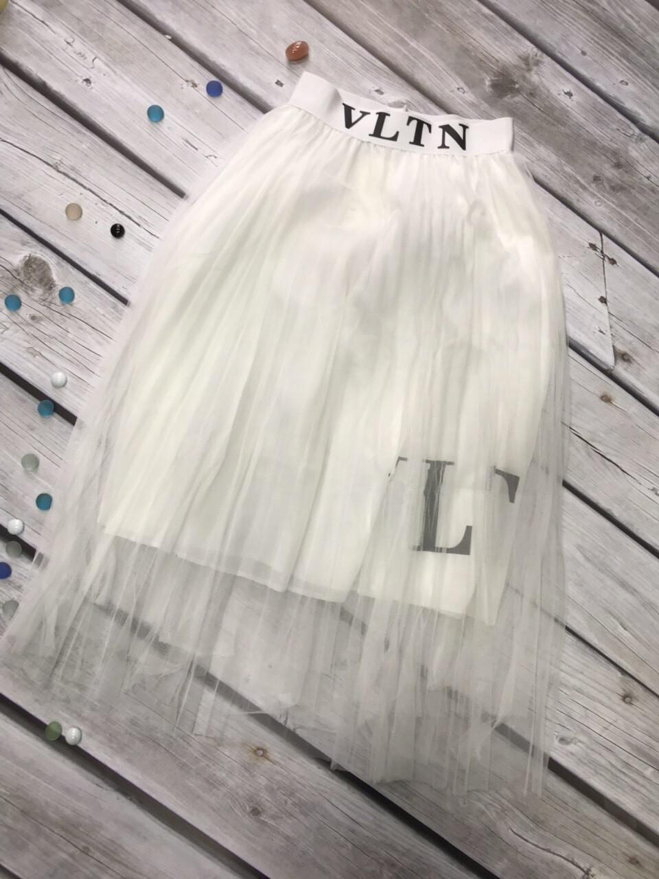 Кокетливая молодежная прозрачная юбка 40-48