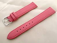 Ремінець до годинників шкіряний, рожевий анти-алергенний, фото 1