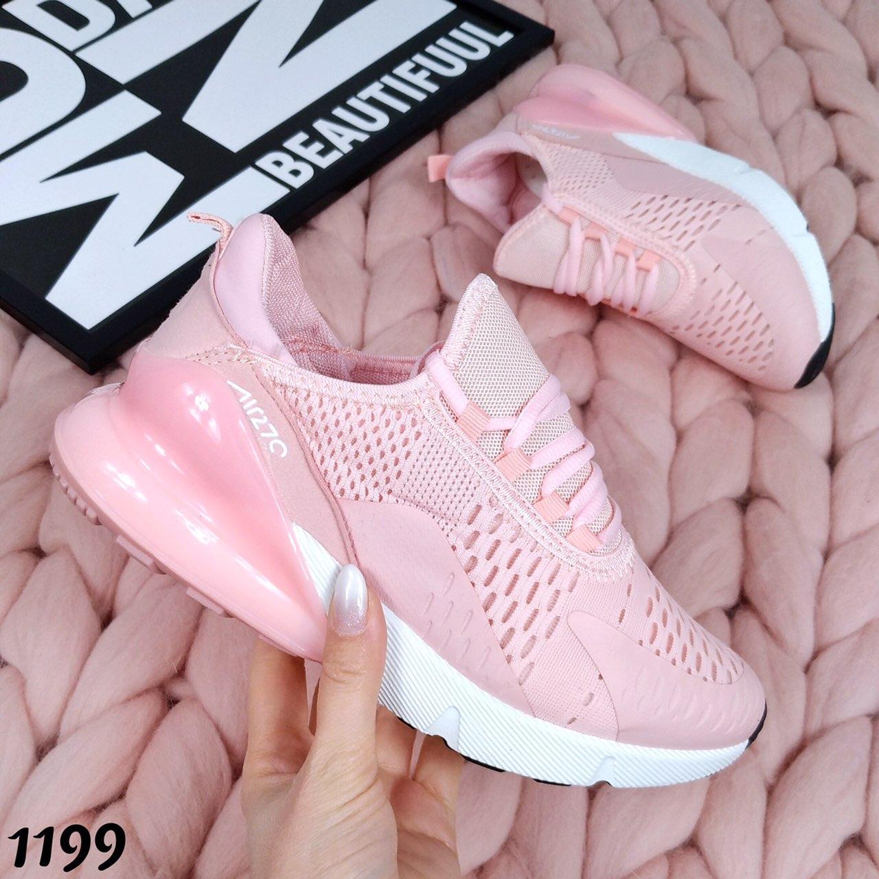 Женские розовые кроссовки сетка в стиле Nike