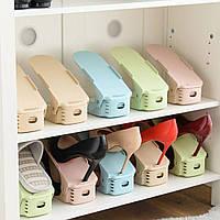 Стойка для обуви двойная подставка под органайзер обувь Shoe Racks