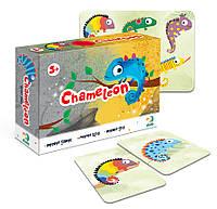 Настольная Карточная Игра (Мемо Найди пару) Хамелеон Гра карткова ДоДо DoDo 300200 011071