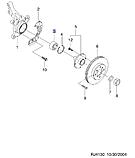 Подшипник ступицы передний Лачетти, H13-DW007, 96995000, фото 4