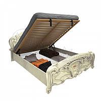 Двоспальне ліжко 160х200 з підйомним механізмом у спальню Реджина Радіка Беж Міромарк