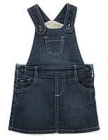 Детский джинсовый сарафан. 9-12, 12-18 месяцев