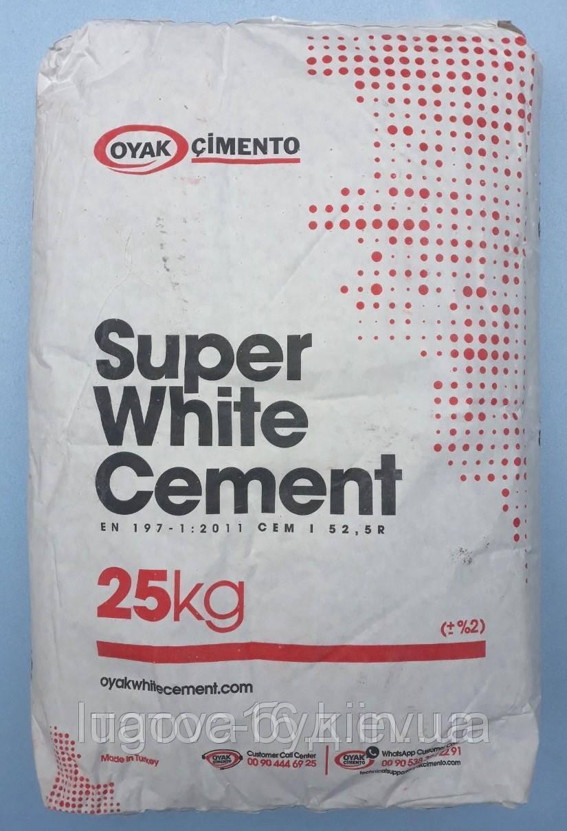 Белый цемент М-500, 25 кг Турция