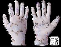Перчатки защитные женские NITROX FLOWERS нитрил, размер 8, RWNF8