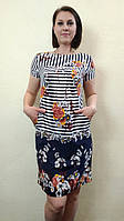 Женское летнее платье-туника с карманами и купоном П57, фото 1