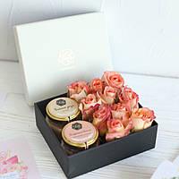 """Подарок для мамы с живыми цветами """"Нежный"""", фото 1"""