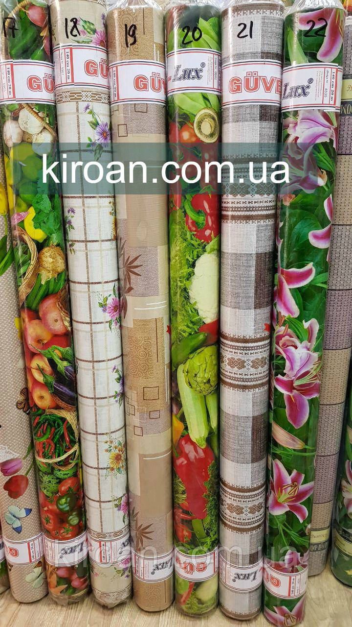 Столовая клеенка в рулоне GUVEN LUX Люкс 140см * 20 м (Большой выбор расцветок)