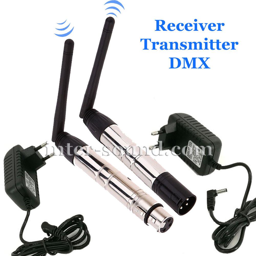 Комплект беспроводного подключения приборов receiver transmitter DMX