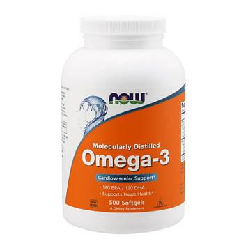 Omega-3 (500 softgels) жирные кислоты NOW