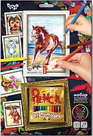 Раскраска по номерам Карандашами 5 рисунков. Лошадь Danko-Toys
