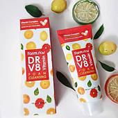 Витаминная очищающая пенка FarmStay DR-V8 Vitamin Foam Cleansing 100мл