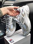 Женские кроссовки Fila 2019 Boveasorus белые с синим. Живое фото, фото 6
