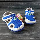 Сандалии с защитой носка мальчикам, р. 23, 27, 28, 30. Синие, текстильные, закрытые босоножки, фото 6