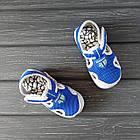 Сандалии с защитой носка мальчикам, р. 23, 27, 28, 30. Синие, текстильные, закрытые босоножки, фото 5