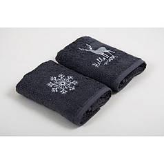 Набор кухонных полотенец Barine - Winter Silver серый 30*50