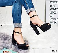 deb778f43 Красивые босоножки женские черные на платформе и каблуке 12,5 см, размеры:  38