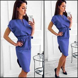 Синее свободное платье Viki (Код 422)